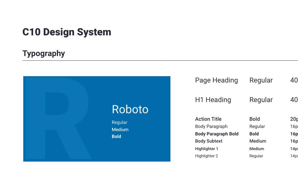 C10 Design System